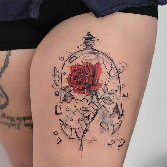 tatuajes para el muslo para mujeres