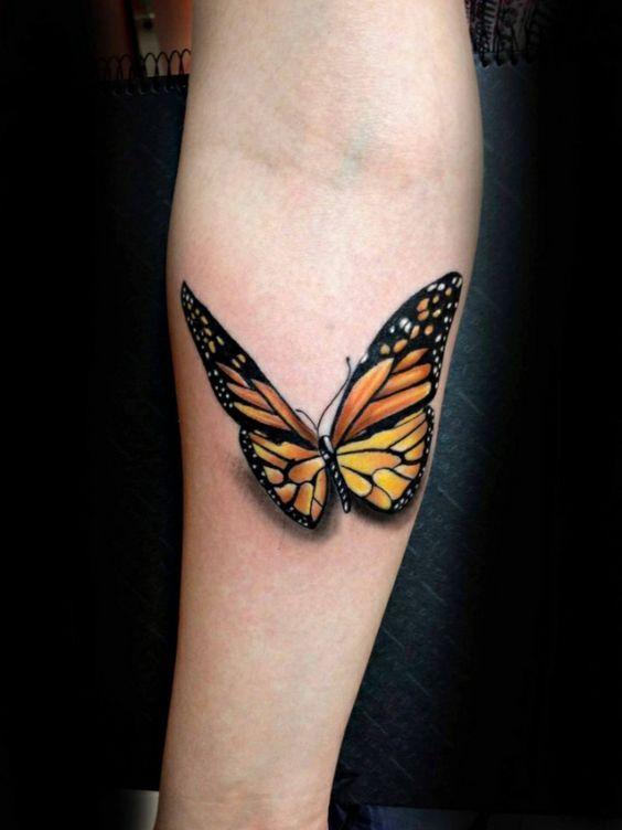 tatuajes de mariposa en el brazo